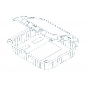 Пинетка совмещенная с крышкой KIT29 H38 RPET, INFIA, Италия, 1000 шт