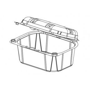 Пинетка совмещенная с крышкой KIT320 H75 RPET, INFIA, Италия, 750 шт