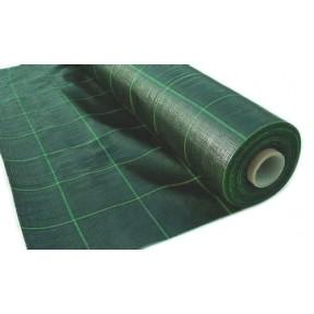 Агротекстиль зелений 100г/м2 1,4м, зелені смуги 15х15 см, Juta  Agrojutex, Чехія