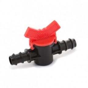 Кран проходной для трубки 16 мм Presto-PS (MV-0116)