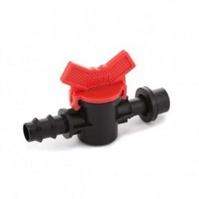 Кран стартовый с резинкой для трубки 16 мм Presto-PS (OV-0416-R)
