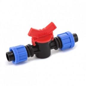 Кран проходной для капельной ленты Presto-PS (LV-0117)
