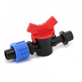 Кран стартовый с резинкой для капельной ленты Presto-PS (OV-031 708-R)